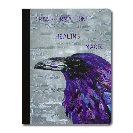 Ravens Rule - Tree-Free Greetings Healing Raven Soft Cover-140 Page Eco Composition College Ruled Book-CJ47373
