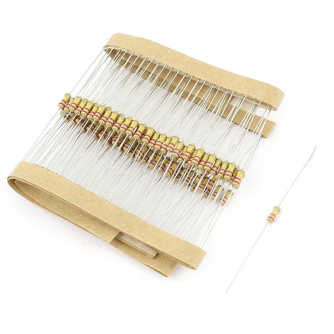 100 PCS 220K Ohm 1//4W 5/% Carbon Resistor Bargain pack