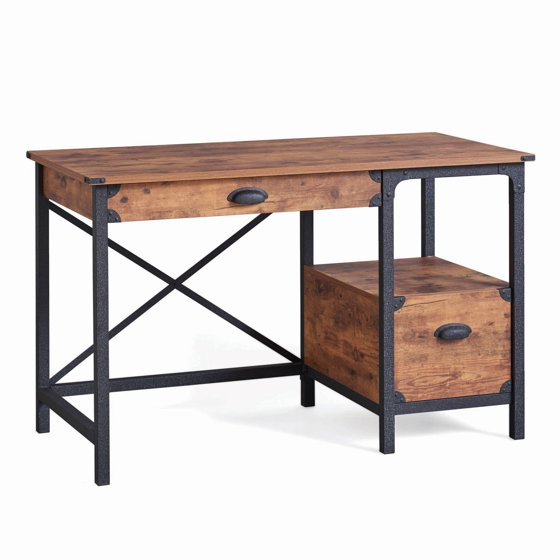 Better Homes and Gardens Rustic Country Desk, Weathered Pine ...
