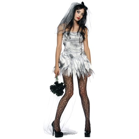 Zombie Bride Adult Costume - X-Large - Lips Costume
