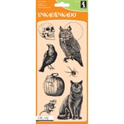 """Inkadinkado Clear Stamps 4""""X8""""-Creatures Of The Night"""
