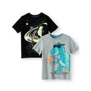 365 Kids from Garanimals Graphic T-Shirts, 2-Piece Multi-Pack Set (Little Boys & Big Boys)