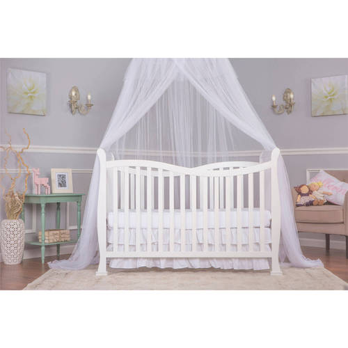 Dream On Me Violet 7-in-1 Convertible Life style Crib, White