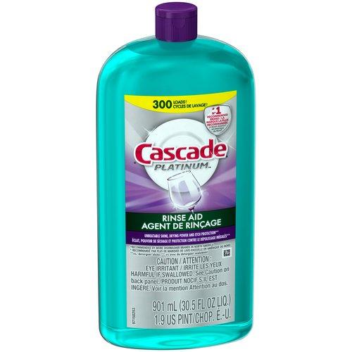 Cascade Platinum Rinse Aid, 30.5 fl oz