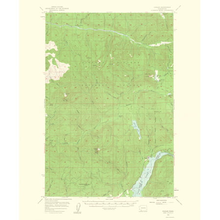 Old Topographical Map Print   Cougar Washington Quad   Usgs 1963   23 X 27 87