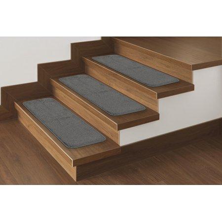 Boston Common Stair Tread - Ottomanson Comfort Collection Soft Solid (Non-Slip) Plush Carpet Stair Treads, 9