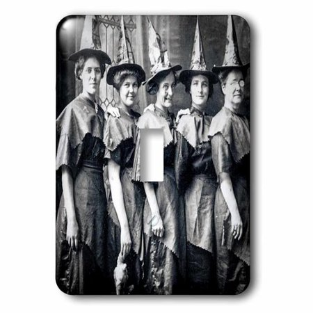 3dRose Halloween Witches Coven Early 1900S Scary Socket Plate](Halloween Witches Coven)