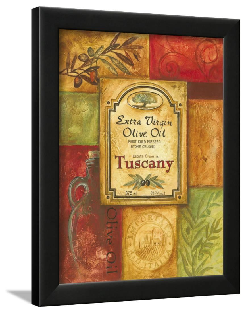 Tuscan Olive Oil Framed Premium Giclee Print Wall Art By Gregory ...
