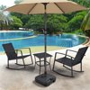 SmileMart 4 lbs Black Square Polyethylene Patio Umbrella Base with Water Resistant