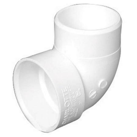 Charlotte Pipe & Foundry PVC003330600HA 1.5 in. PVC DWV Short Turn 90 deg Elbow