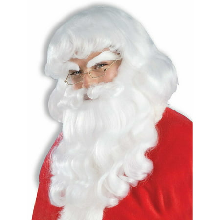 Santa Wig And Beard Set - Professional Santa Beard