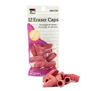 80799 CLI Pencil Eraser Cap - Lead Pencil Eraser - Latex-free - Rubber - 12/Pack - Pink