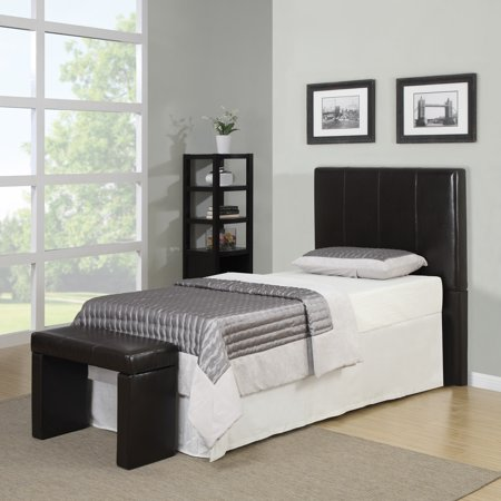 Better Living Brown Twin Headboard And Bench Set
