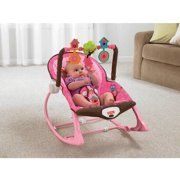 Fisher-Price Infant to Toddler Rocker Sleeper, Pink Owls