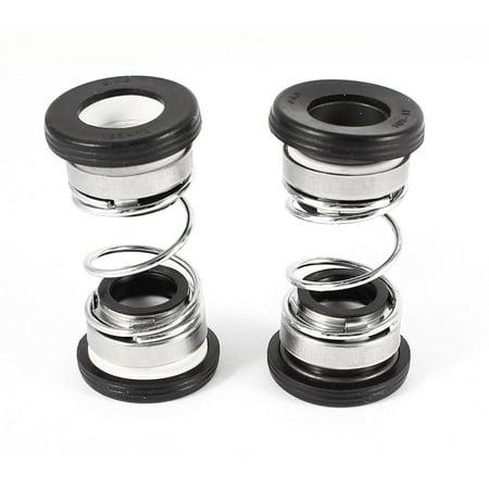 Unique Bargains 2Pcs 12mm Dia Black Rubber Bellows Mechanical Seal for Centrifugal Pump