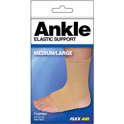Flex Aid Elastic Ankle Support, Medium/Large