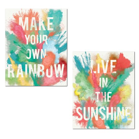 Inspirational Watercolor-Style Color Burst