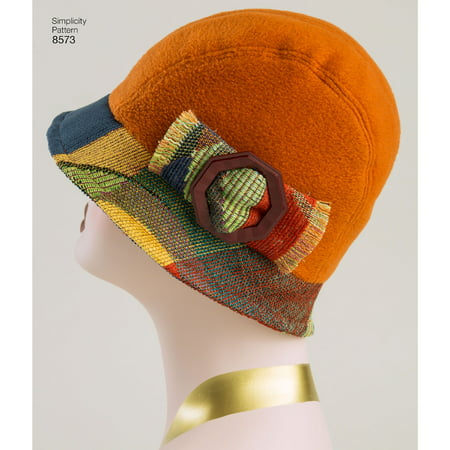 Simplicity Misses' Flapper Hats in Three Sizes-S-M-L (Flappers Hats)