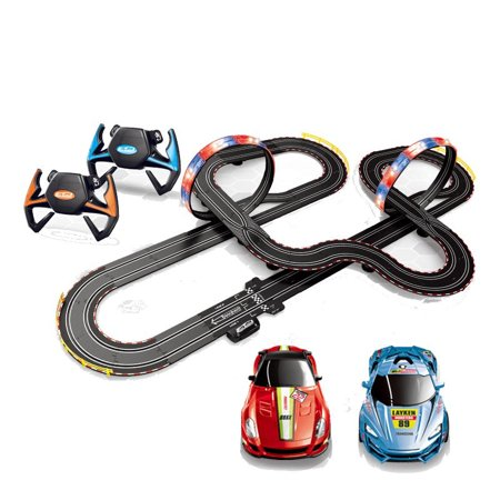 Racing Track Kit Set Toys Loops Electric Slot Cars Race Stunt Loop 2 Controllers Kids