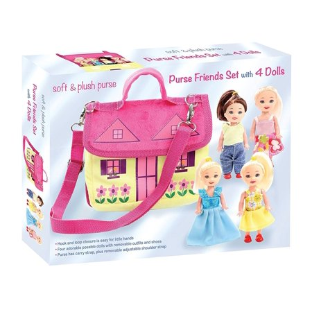Adorable Set (Soft and Plush Purse Friends Set with Four Adorable Poseable Dolls)