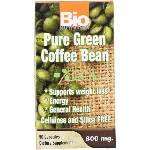 Bio Nutrition Pure Green Coffee Bean 800 Mg 50 Capsules Walmart