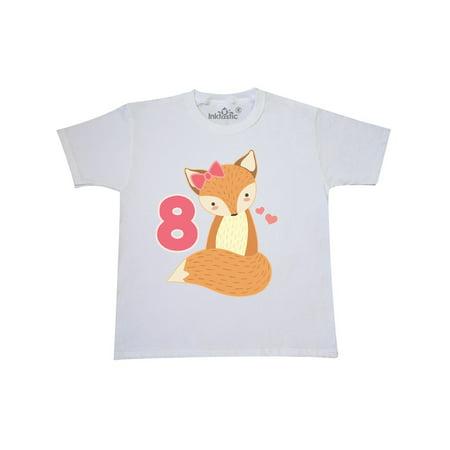 8th Birthday Fox Cute 8 Year Old Youth T Shirt