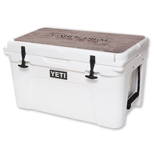 MightySkins Protective Vinyl Skin Decal for YETI Tundra 45 qt Cooler Lid wrap cover sticker skins Carpe Diem
