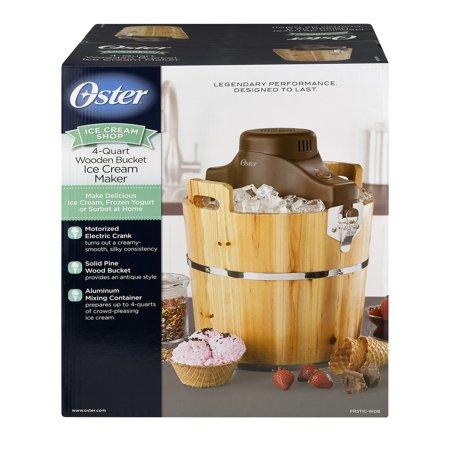Oster 4-Quart Wood Bucket Ice Cream Maker, FRSTIC-WDB-001