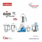 VIDIEM VERSA PREMIUM 750W With Juice Extractor & Chef Jar