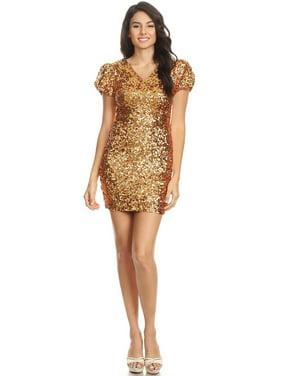 4f8d7355cbb Product Image Fashion Womens Short Sleeve Sequin V Neck Bodycon Mini Club  Dress