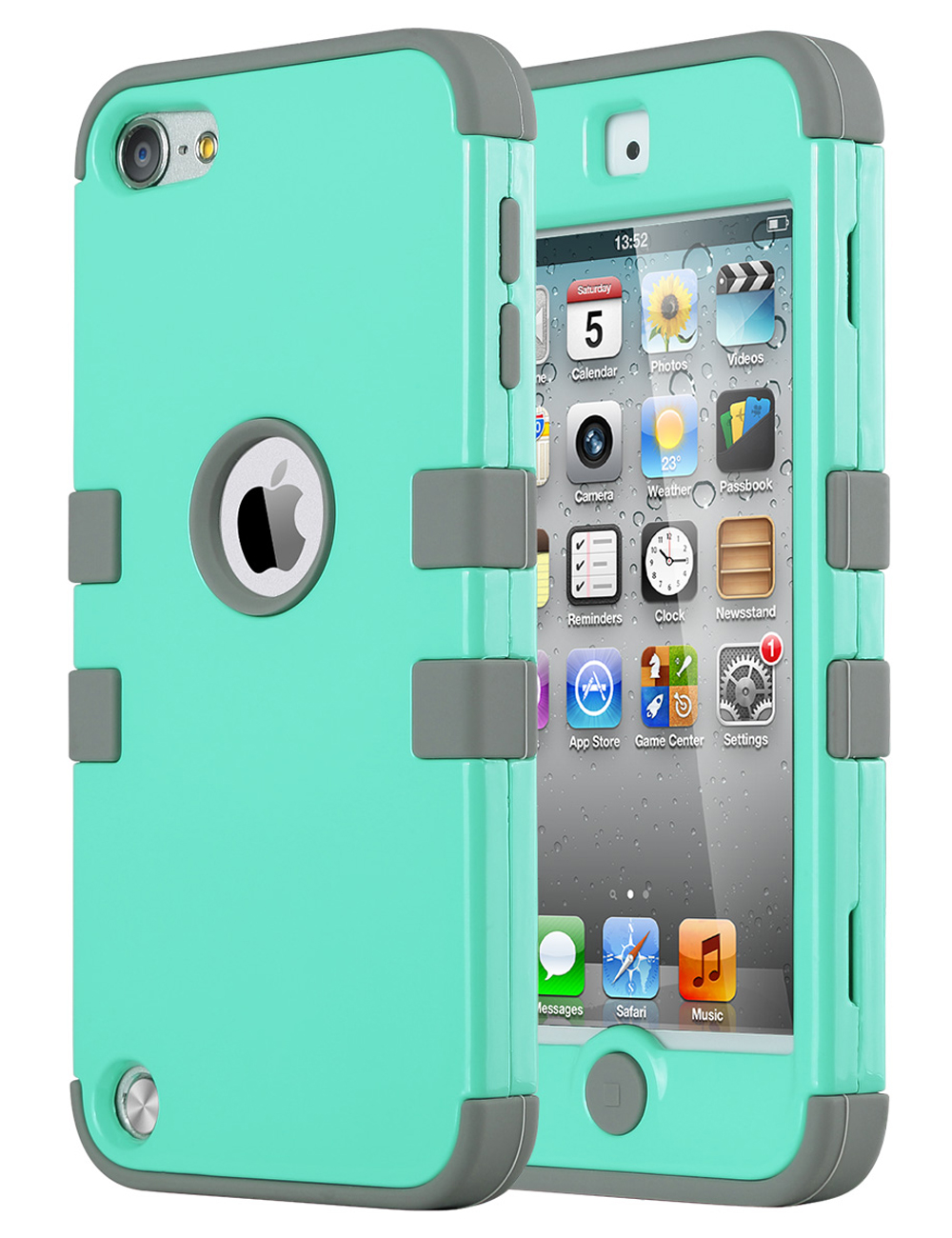 iPod Touch 6 Case,iPod Touch 5 Case,ULAK [Colorful Series] Hybrid Silicon Hard Case Cover for ...