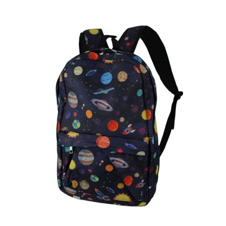 Colorful Space Planets and Rocket Ships Backpack (Best Way To Ship A Backpack)