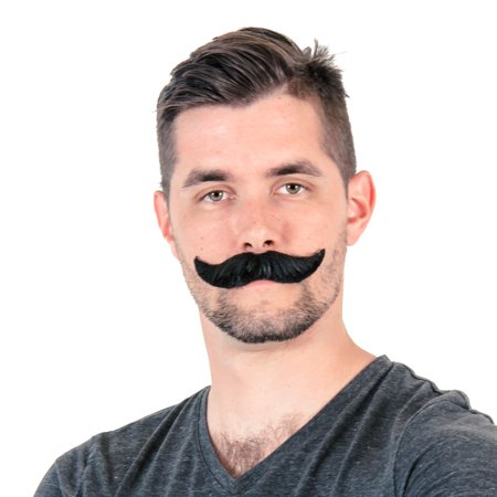 Adult Deluxe Handlebar Mustache Costume Accessory](Costumes With Mustaches)