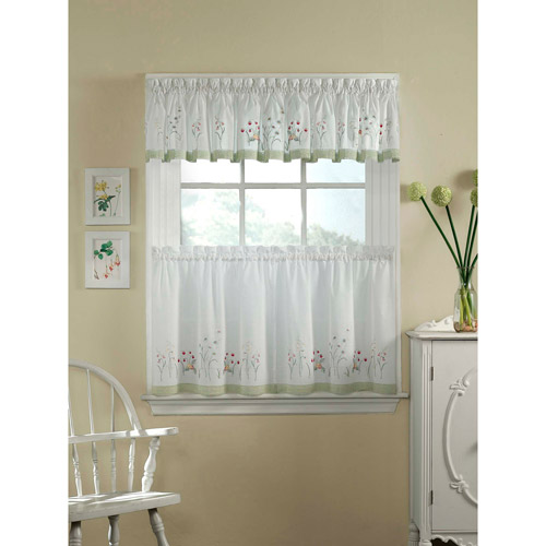 CHF U0026 You Leighton Tailored Valance Or Kitchen Curtains, Set Of 2    Walmart.com