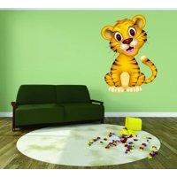 Wall Design Pieces Happy Tiger Animal Kids Daycare School Nursery 20x30 Inches