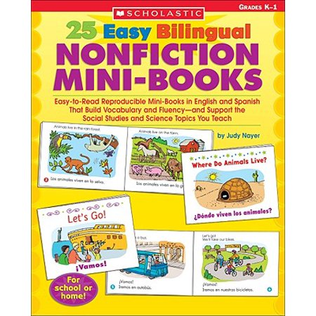 Science Vocabulary Readers - 25 Easy Bilingual Nonfiction Mini-Books : Easy-To-Read Reproducible Mini-Books in English and Spanish That Build Vocabulary and Fluency--And Support the Social Studies and Science Topics You Teach