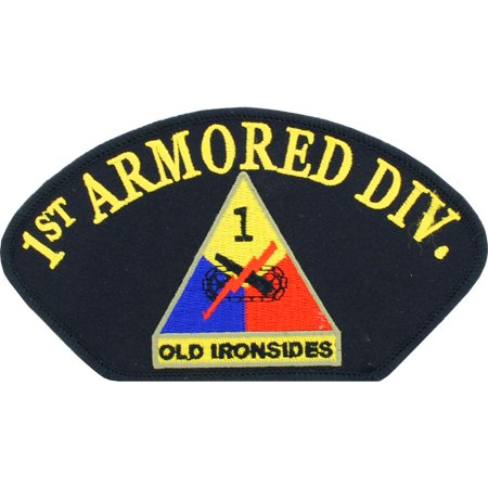 U.S. Army 1st Armored Division Hat Patch 2 3/4