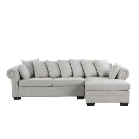 Tremendous Modern Fabric L Shape Sectional Sofa Couch Light Gray Pabps2019 Chair Design Images Pabps2019Com