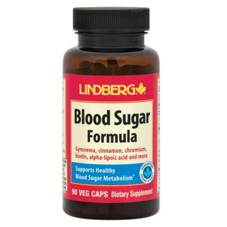 Lindberg Blood Sugar Formula, 90 Caps, with Gymnema, Cinnamon, Chromium, Biotin, Alpha-Lipoic Acid, Bitter Melon, Banaba, and (Blood Sugar Gymnema)
