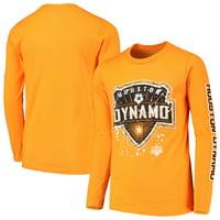 Houston Dynamo Youth Deconstructed Long Sleeve T-Shirt - Orange