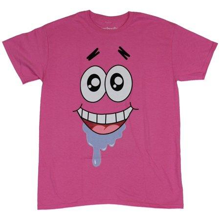 Spongebob Squarepants Pjs (Spongebob Squarepants Mens T-Shirt - Patrick Drooling Giant Face)