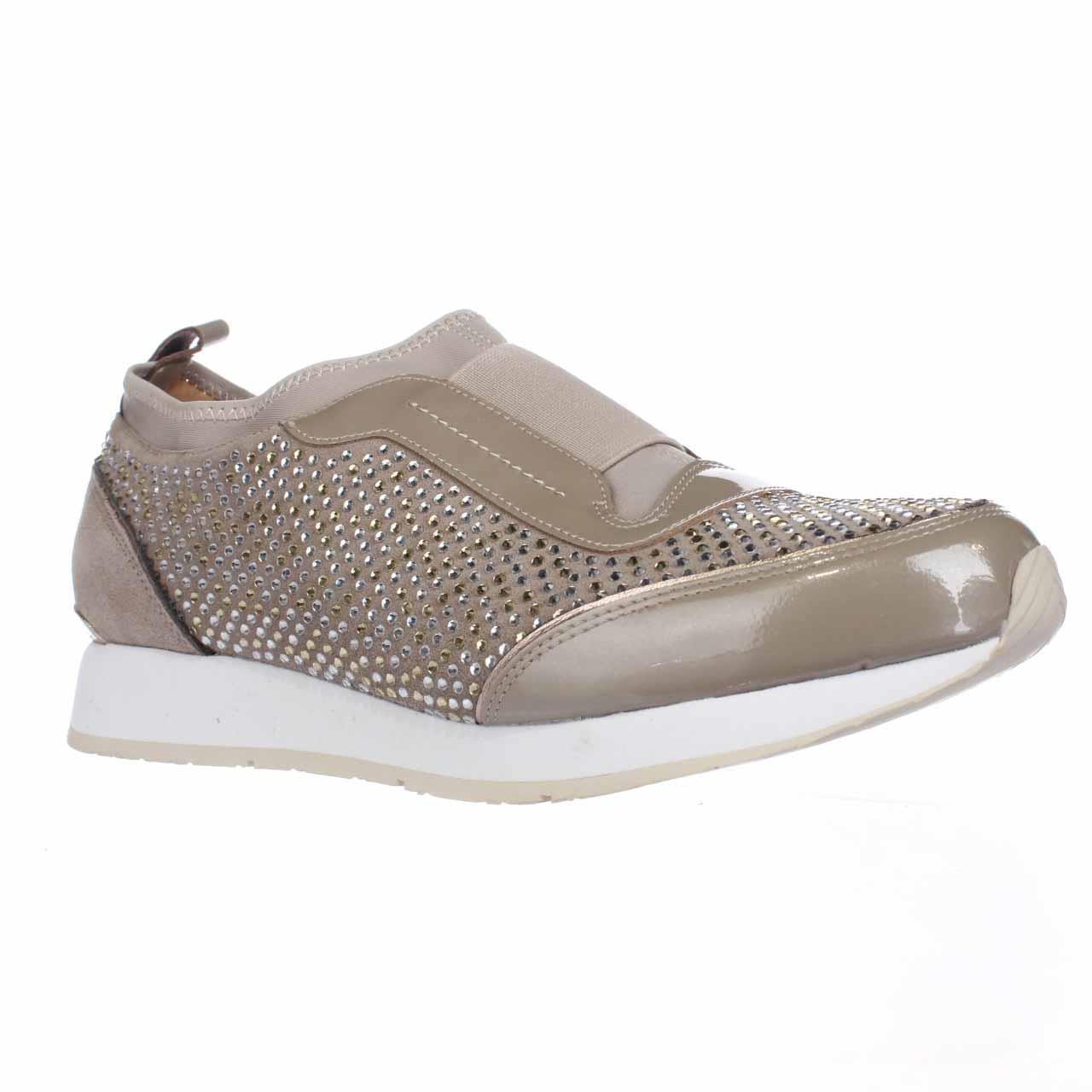 Womens Donald J Pliner Ryley Rhinestone Pull On Fashion Sneakers, Beige by Donald J Pliner