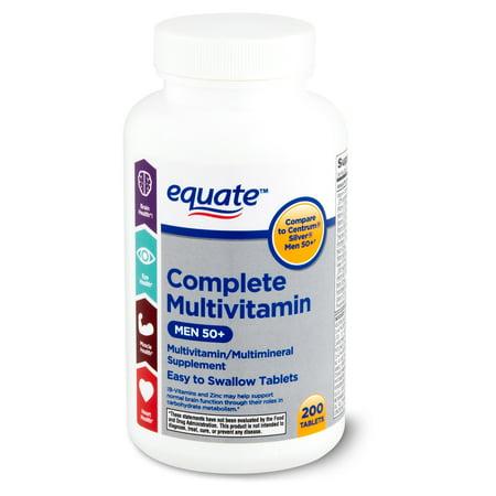 Equate Complete Multivitamin/Multimineral Supplement, Men 50+, 200 count