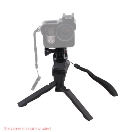 2in1 Mini Portable Folding Table-top Tripod Stand + Handheld Grip for GoPro Hero 4/3+/3/2/1 DC DSLR SLR Camera and Smartphone, Black - Walmart.com
