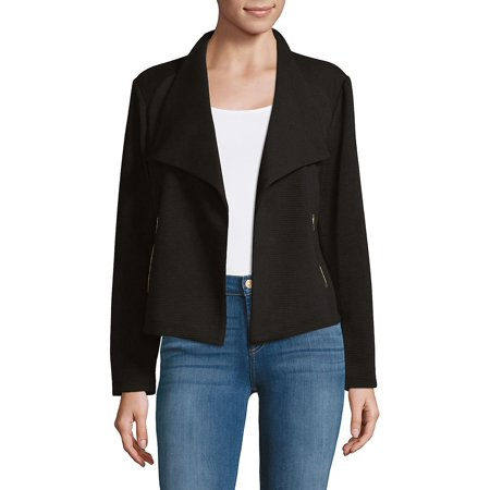 Textured Flyaway Jacket Anne Klein Womens Trench Coat