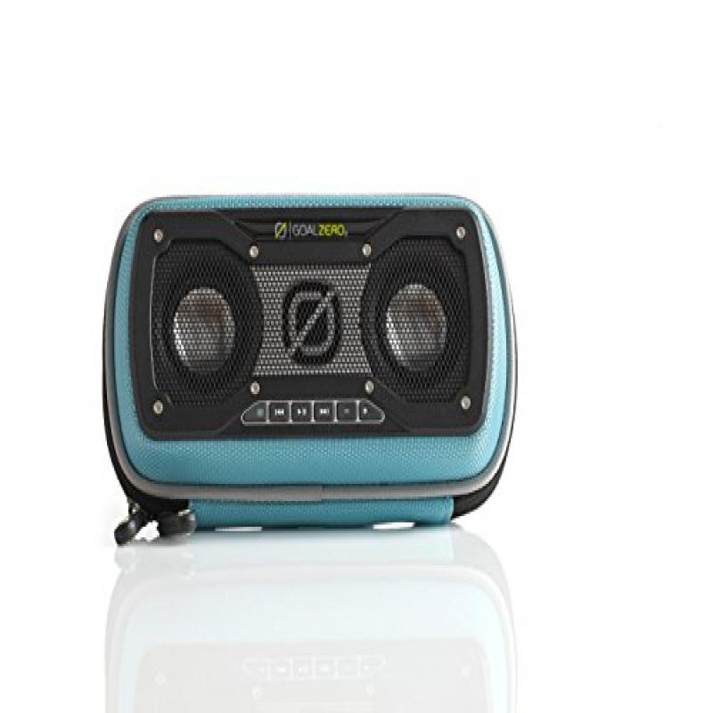 Goal Zero Rock Out 2 Solar Rechargeable Speaker, Teal by Goal Zero