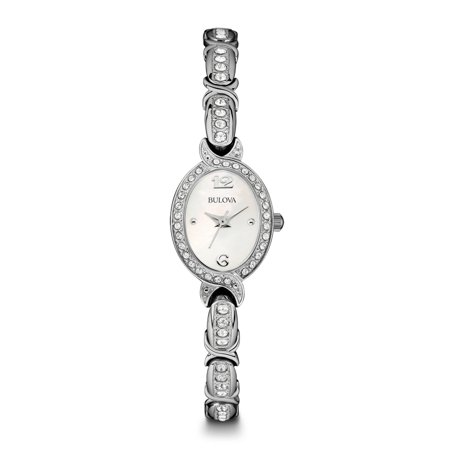 Bulova Jewelry Watches (96L199 Womens Stainless Steel Crystal Watch)