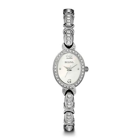 Bulova Women's Swarovski Crystal Stainless Steel Watch 96L199