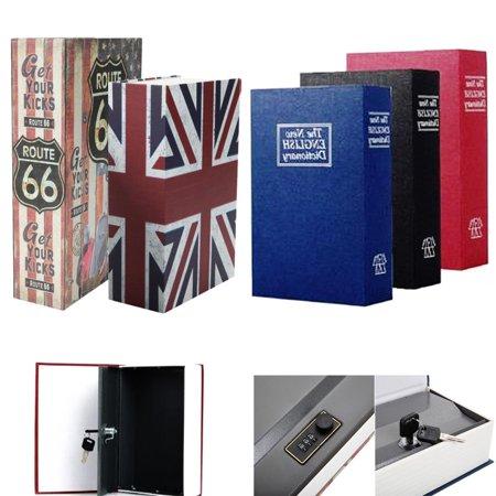 Ktaxon Secret Dictionary Book Hidden Money Jewelry Safe Storage Box Security Key Lock Colorful