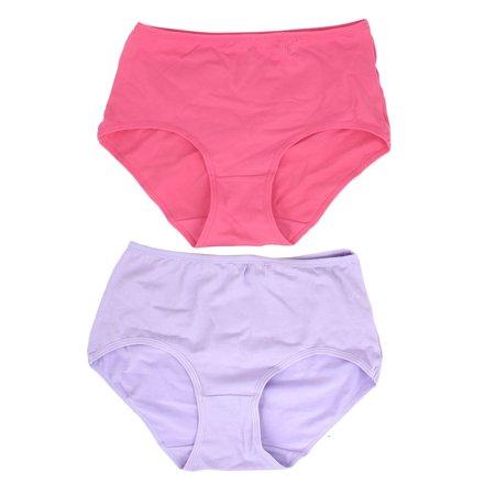 Unique Bargains 2Pcs Lady Wide Waistband Stretchy Waist Underpants Briefs Solid Purple Fuchsia - Stretchy Wrist Bands